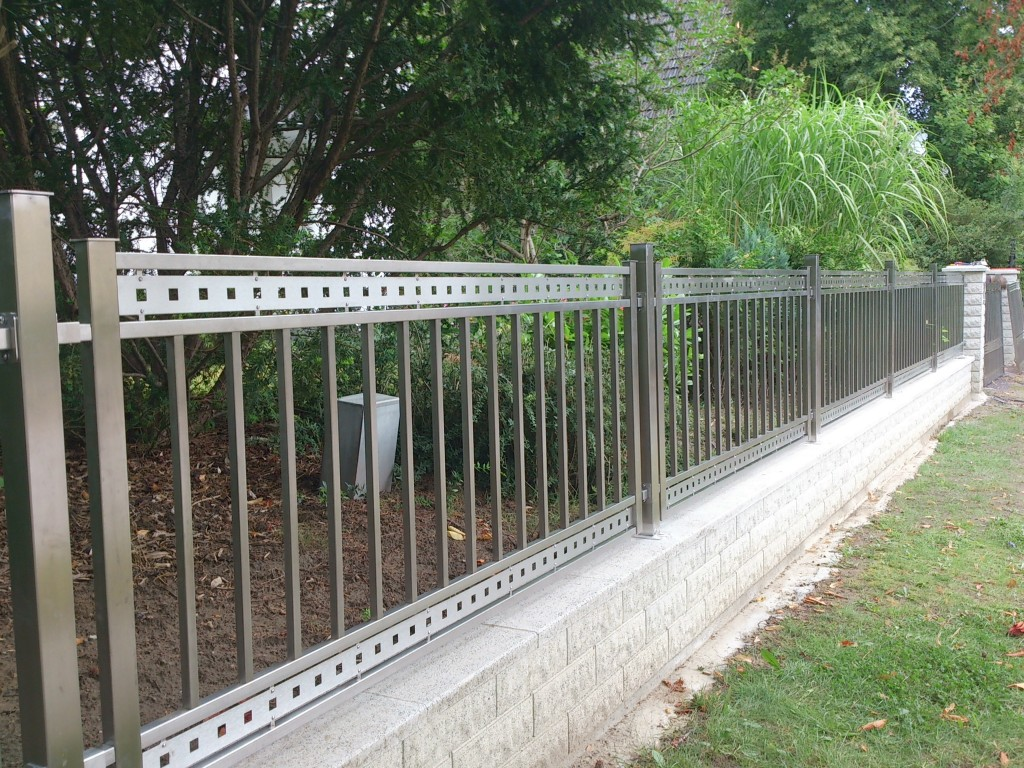 Stainless Steel Gates And Fences Creative Background